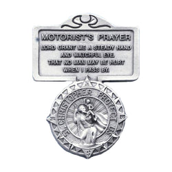 St. Christopher Motorist Prayer Visor Clip-20538