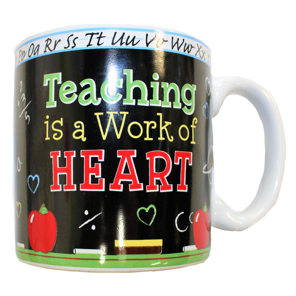 """Teaching is a Work of Heart"" Mug"
