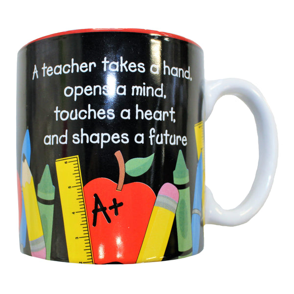 """A Teacher takes a hand..."" Mug"