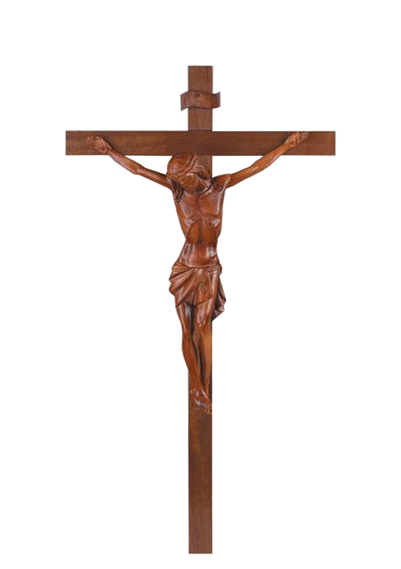 36in. Thick Wood Crucifix-17/900