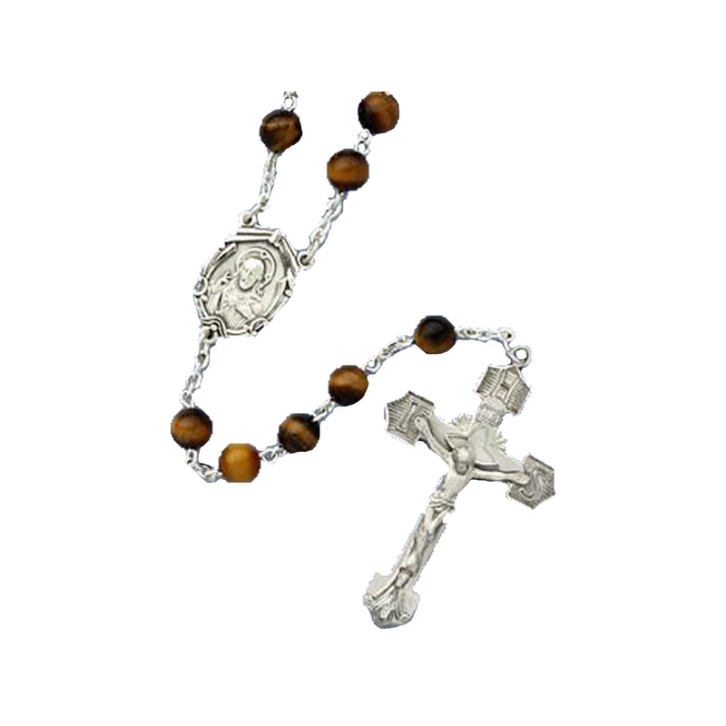 Tiger Eye Rosary - 82225