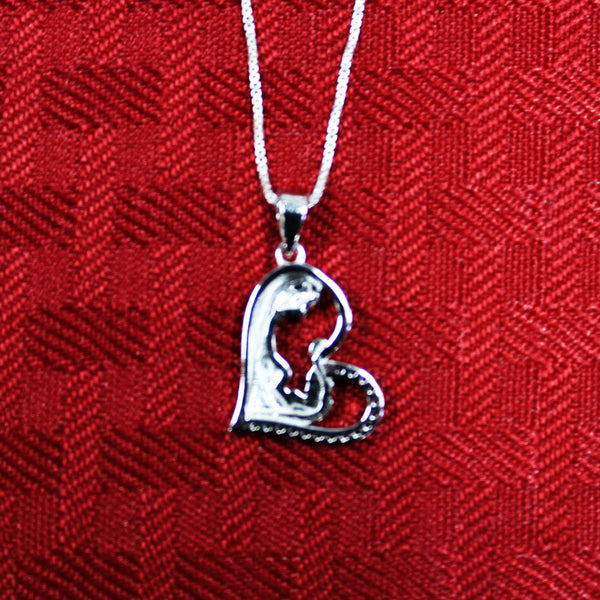 Sterling Silver Heart Pendant with Necklace
