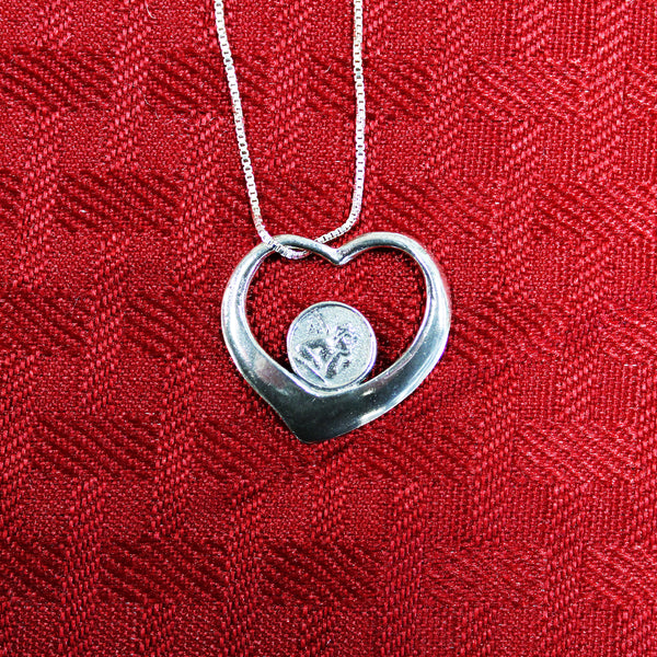 Sterling Silver Angel Heart Pendant and Necklace