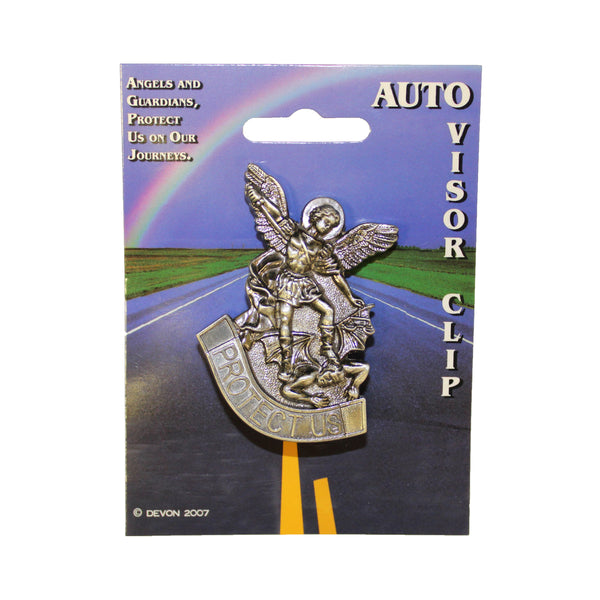 "St. Michael ""Protect Us"" Visor Clip"