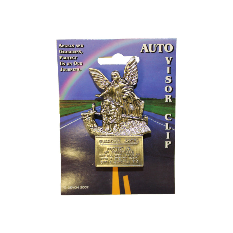 "Guardian Angel ""Protect Us"" Visor Clip"
