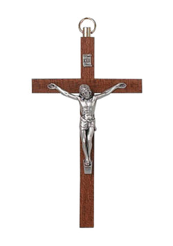 4.5in. Walnut Crucifix-17/095