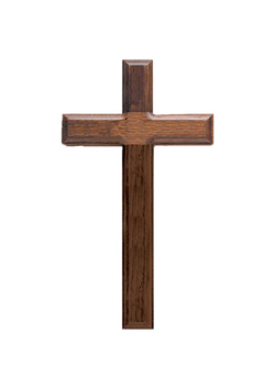 11in. Walnut Cross with Beveled Edges