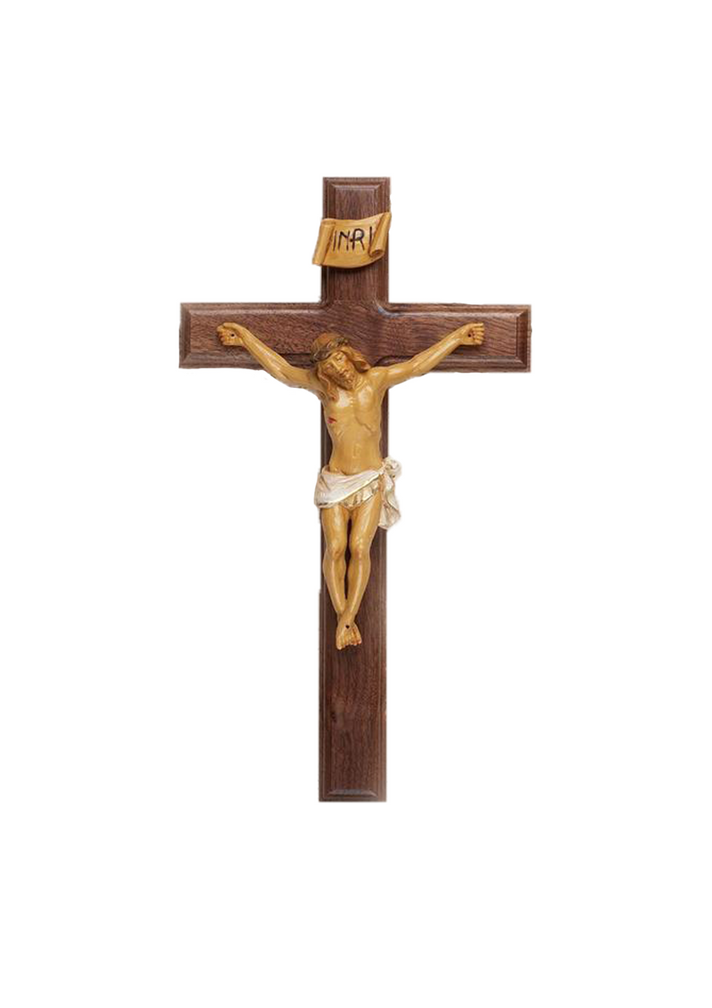 12in. Walnut Crucifix