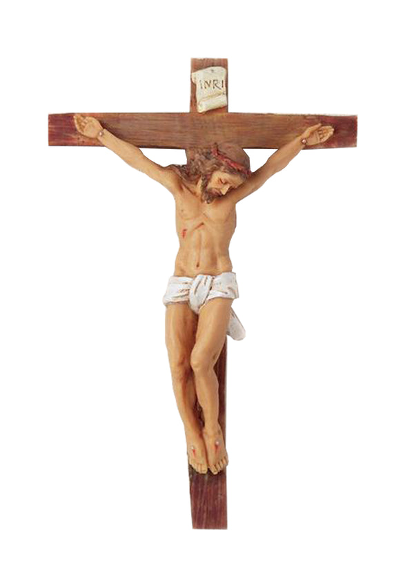 8in. Woodtone Crucifix-17401