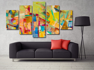 Town In Color Abstract Oil Painting Print