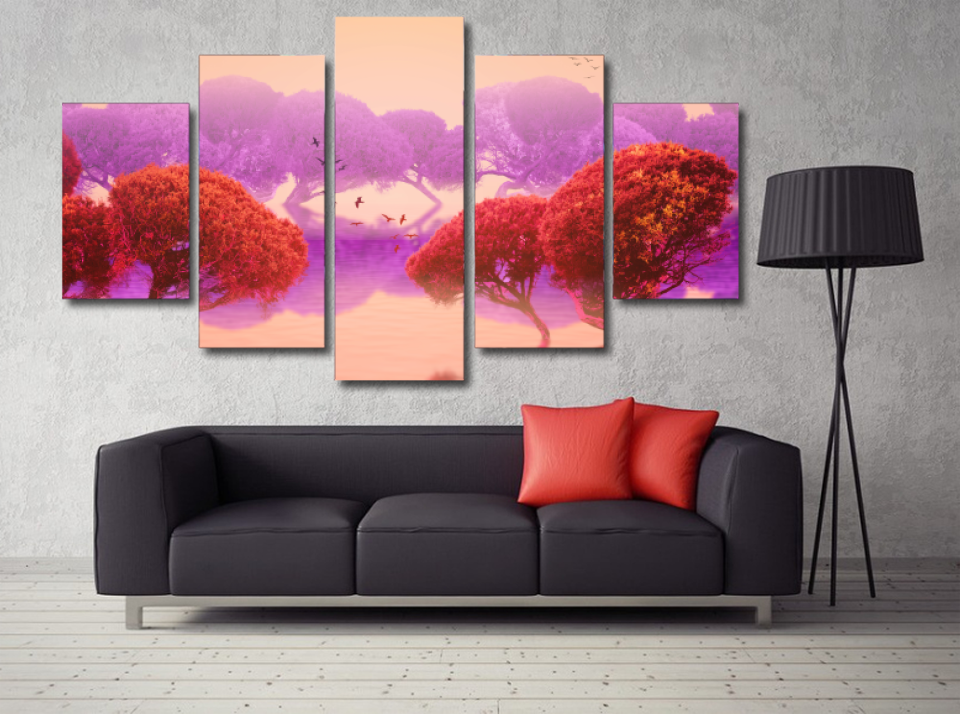 Ethereal Japanese Garden Forest Wall Print
