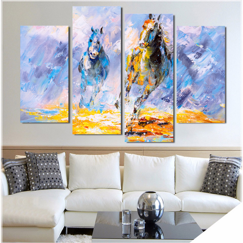 Spirit of the Stallion Oil Painting Canvas Print