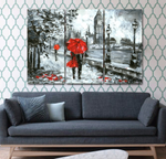 London in the Rain Canvas Print