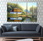 Quiet Home By the Water Canvas Print