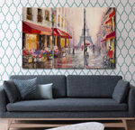 A Walk Through Paris Oil Paint Canvas Print