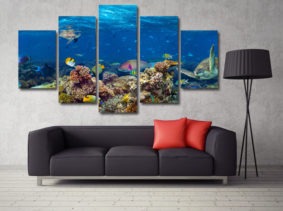 Under the Sea Photo Canvas Print