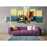 Cast Away Oil Paint Canvas Print