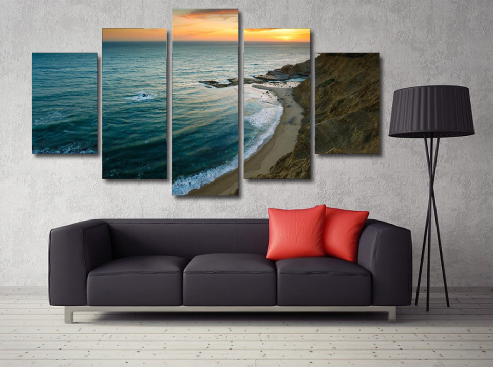 Walk on the Beach Photo Canvas Print