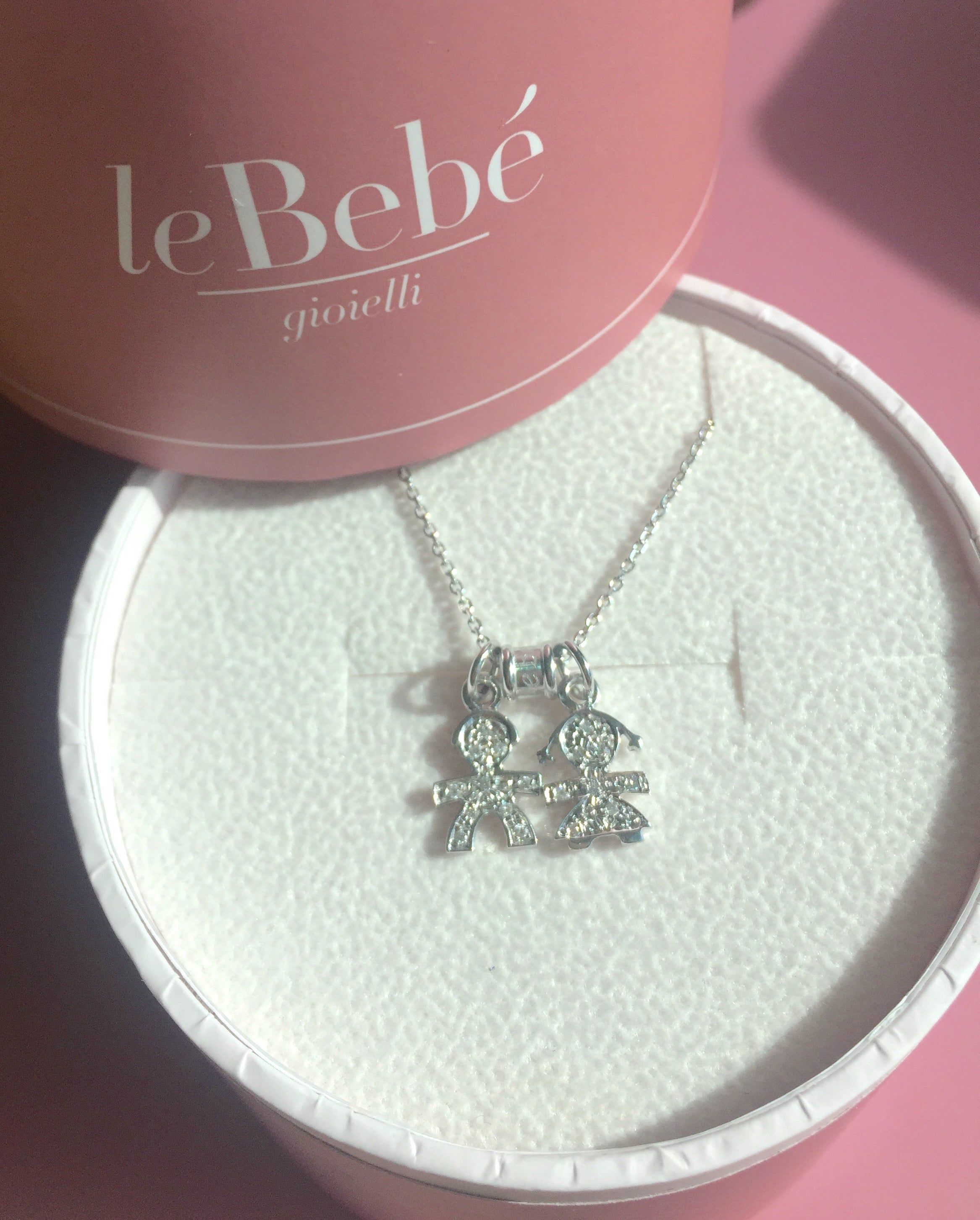 For mom of 2 diamond pave necklace with white gold boy girl on for mom of 2 diamond pave necklace with white gold boy girl on white aloadofball Choice Image