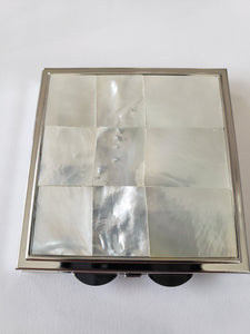 Lee Sands Mother of Pearl Pill Box/Mirror Case