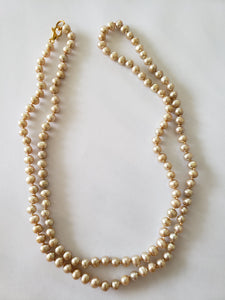 "Lee Sands 5-6 mm Potato-Shape Pearl Knotted 30"" Necklace"
