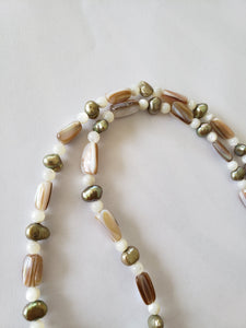 "Lee Sands Pearl/Abalone/Mother of Pearl ""Ruyi"" Necklace"