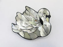 Lee Sands Shell Inlaid Swan Brooch