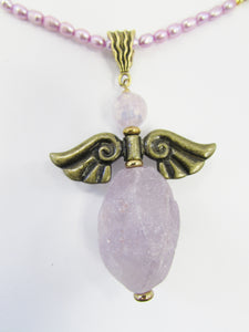 Lee Sands Amethyst Angel Necklace