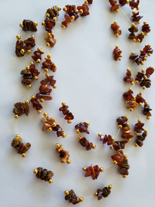 Lee Sands Amber 3-Strand Illusion Necklace