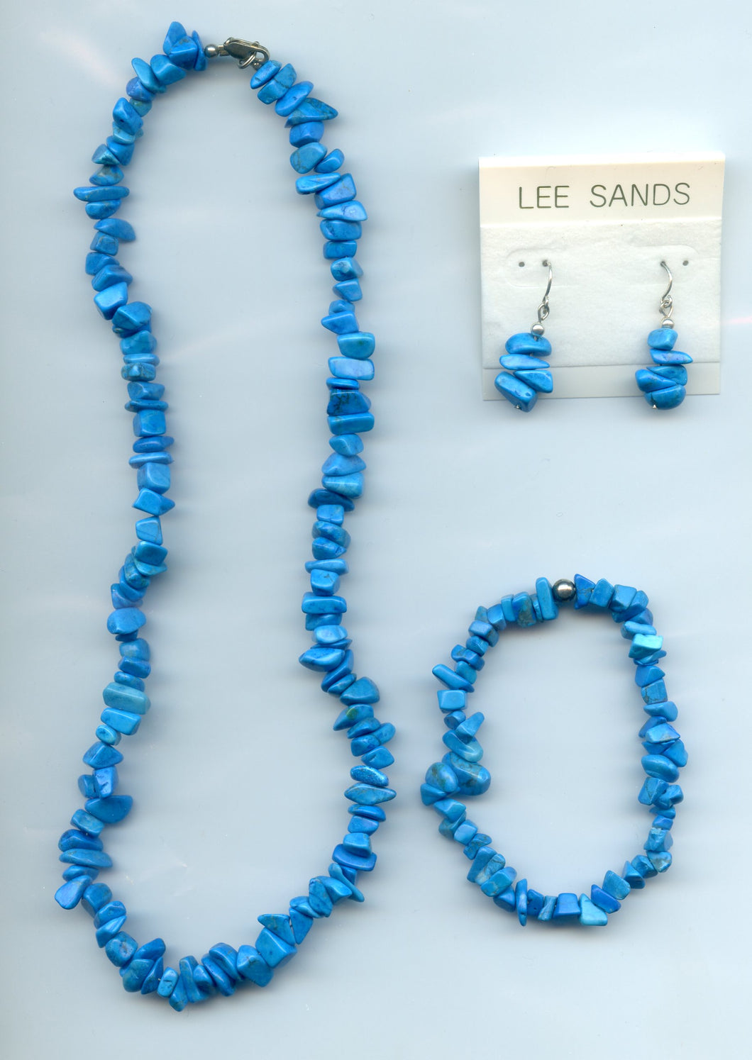 Lee Sands Blue Howlite Chips Wardrobe set s/s