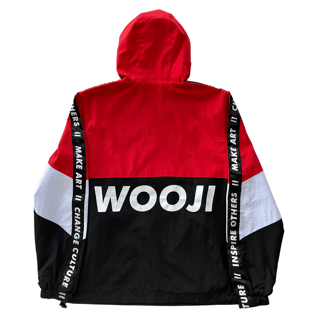 Wooji Identity Anorak Jacket Red/White/Black - Wooji