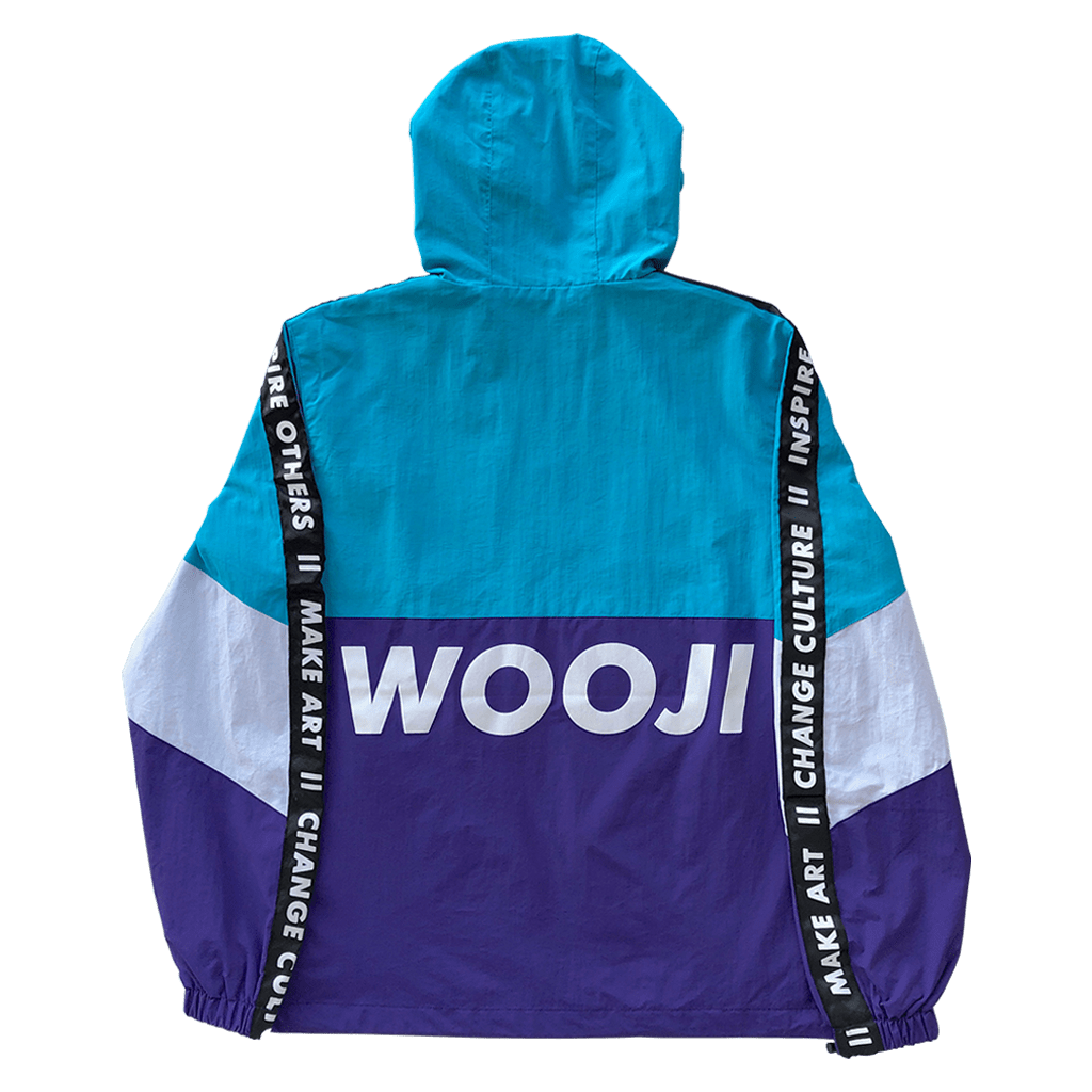 Wooji Identity Anorak Jacket Teal/White/Purple - Wooji