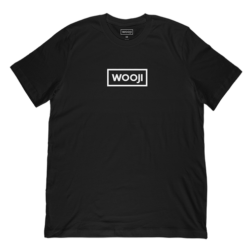 wooji box logo shirt black