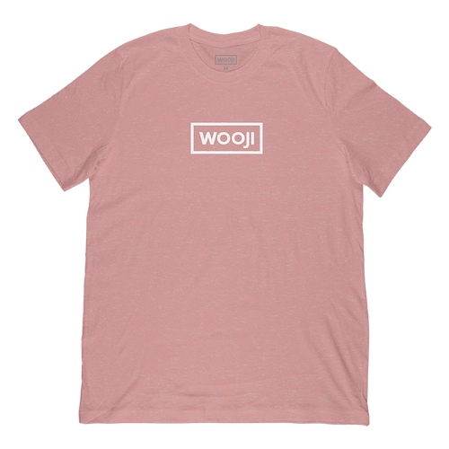 wooji box logo shirt rose