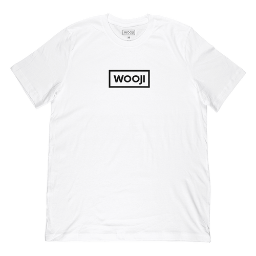wooji box logo shirt white