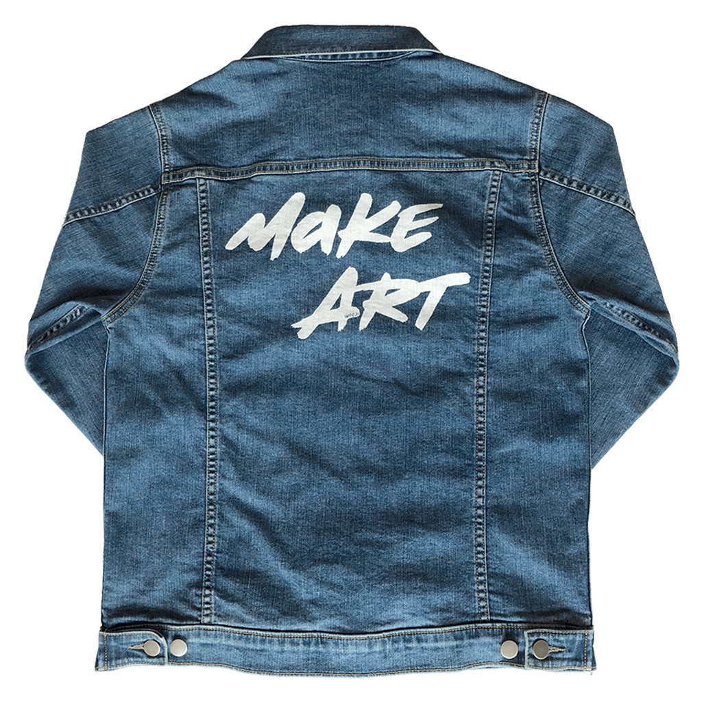 Make Art Men's Denim Jacket - Wooji