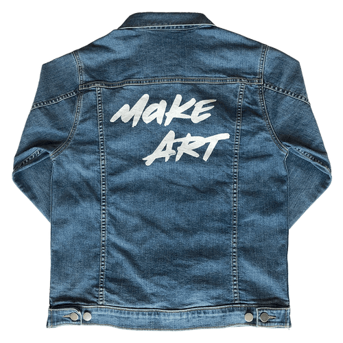 wooji make art denim jacket back