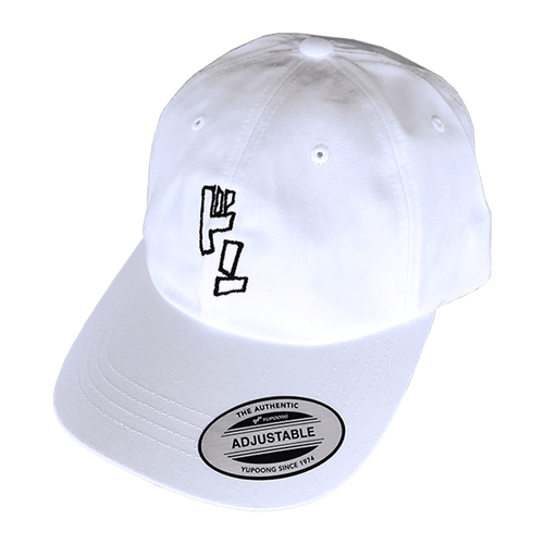 ドン Dad Hat White - Wooji