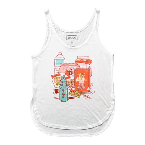 wooji guilty pleasures women's tank front