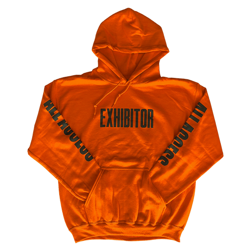 wooji tour hoodie exhibitor orange front
