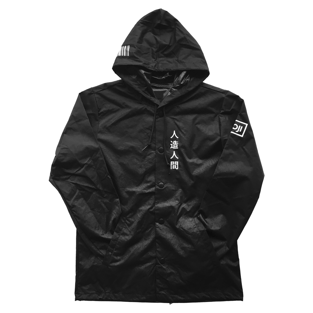 Wooji WJI-02 Windbreaker Jacket Black - Wooji