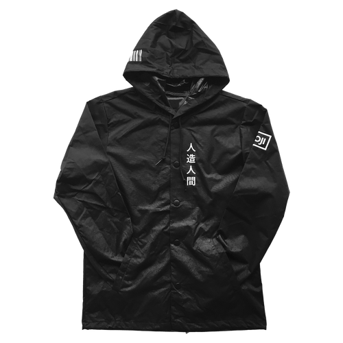 WJI-02 Windbreaker Jacket Black - Wooji