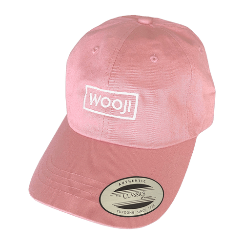 Wooji Box Logo Dad Hat Pink - Wooji