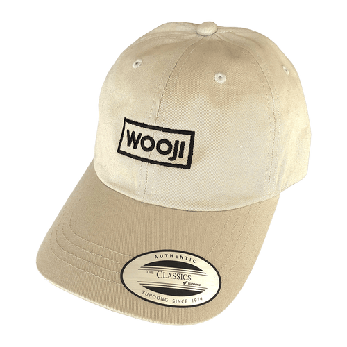 Wooji Box Logo Dad Hat Sand - Wooji