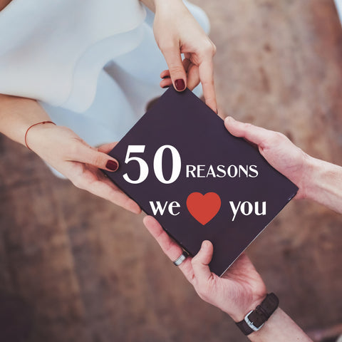 Gift for His Birthday: 50 reasons we love you