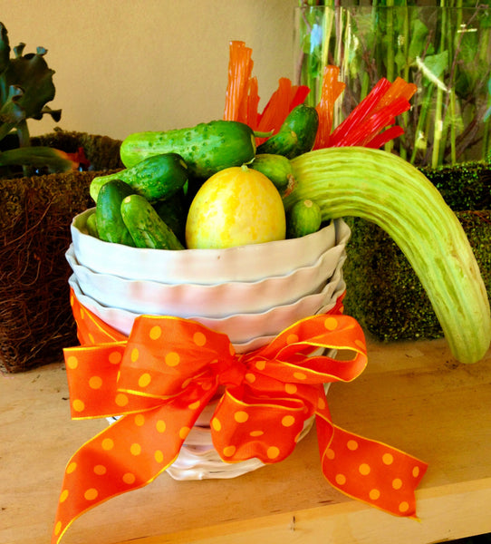August birthday gift idea from Birthday Butler - planter with cucumbers and licorice