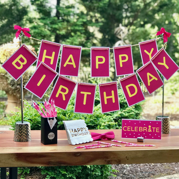 Pink birthday party kit for him or her
