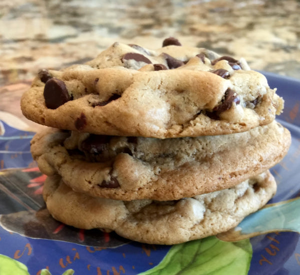 Chocolate chip cookies make a delicious birthday gift for him or her