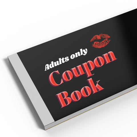 Adults only birthday party coupon book