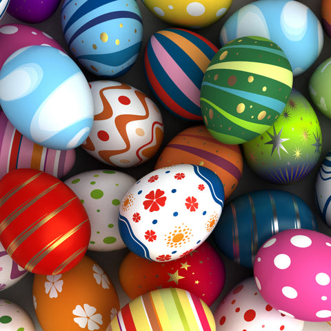 easter eggs in bright colors